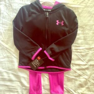 Under Armour 2 Piece Pink & Black Outfit